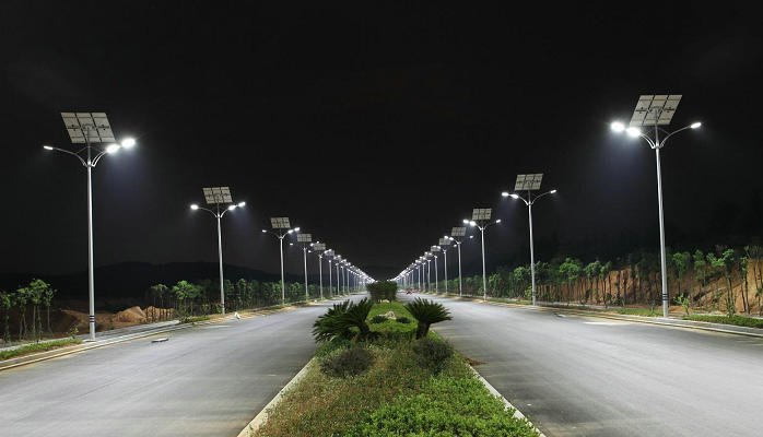 Chuangye Road, Jiangxi street lights, JiangXi, China